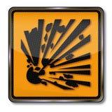 Gevaarsexplosieven vector illustratie