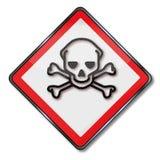 Gevaarsvergift en giftige chemische producten royalty-vrije illustratie