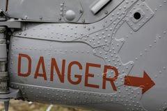 Gevaarswaarschuwing aan de kant van Westland-Lynxhas3 Serie 259 Reg. stock foto's