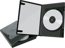 Geval DVD en DVD Royalty-vrije Stock Afbeelding