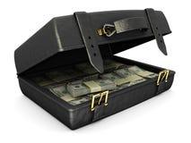 Geval met geld Stock Afbeelding