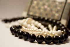 Geval met juwelen Stock Fotografie