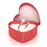 Geval met ring royalty-vrije stock fotografie