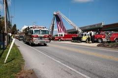 Gevallen Brandbestrijder Honored Stock Afbeelding
