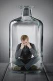 Gevangen in een fles royalty-vrije stock foto's
