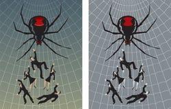 Gevangen in het Web Stock Afbeelding