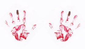 Gevangen overhandigd rood stock illustratie