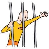 Gevangene achter staven vector illustratie