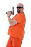 Gevangene die een slagdroger houdt Royalty-vrije Stock Fotografie