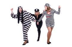 Gevangene en politie Royalty-vrije Stock Afbeeldingen