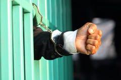 Gevangene in gevangenis stock foto's