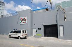 Gevangenis bij Mannetje maldives Stock Foto
