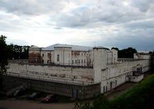 Gevangenis in Daugavpils, Letland De misdadigers zijn nog daar nu Royalty-vrije Stock Fotografie