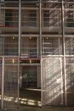 Gevangenis: de de celschermen van het staalnetwerk Royalty-vrije Stock Fotografie