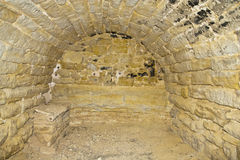 Gevangenis in een kasteel stock afbeeldingen