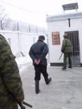 Gevangenis en gevangenen royalty-vrije stock foto