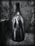Gevangenis in fles Royalty-vrije Stock Afbeelding