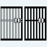 Gevangenis, gevangenis Stock Afbeeldingen