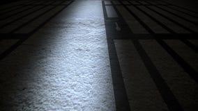 Gevangenisbinnenland met Gevangenisbars vector illustratie