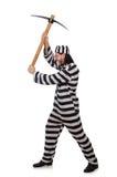 Gevangenismedebewoner met bijl Royalty-vrije Stock Fotografie