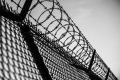 Gevangenisomheining Stock Fotografie