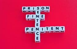 Gevangenisstraf Stock Afbeeldingen