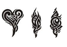 Gevariërde tatoegering Stock Afbeelding