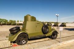 Gevechts Sovjettank, een tentoongesteld voorwerp van militair-historisch Museum, Ekaterinburg, Rusland, 05 07 2015 Royalty-vrije Stock Afbeeldingen