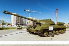 Gevechts Sovjettank, een tentoongesteld voorwerp van militair-historisch Museum, Ekaterinburg, Rusland Royalty-vrije Stock Fotografie