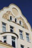 Geveltop van een historisch gebouw royalty-vrije stock afbeelding