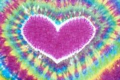Geverfte het patroonachtergrond van het hartteken band Royalty-vrije Stock Afbeeldingen