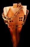 Geverkettetes Haus auf Feuer Lizenzfreies Stockfoto