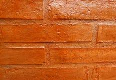 Geverniste bakstenen muur Stock Fotografie