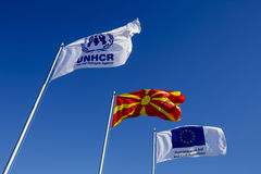 Gevgeljia macedonian border Royalty Free Stock Photos