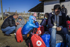 Gevgeljia macedonian border Royalty Free Stock Photography