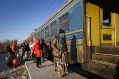 Gevgeljia macedonian granica zdjęcie royalty free