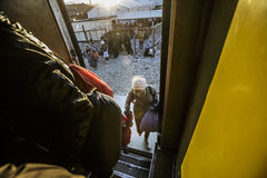 Gevgeljia macedonian granica fotografia stock
