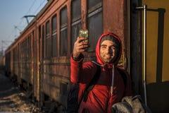 Gevgeljia macedonian granica zdjęcia royalty free
