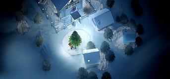 Gevisualiseerde illustratie voor nieuw jaar stock afbeeldingen