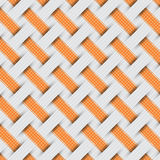 Gevlecht weefselpatroon, grijze achtergrond Royalty-vrije Stock Afbeelding