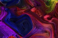 Gevlechte kleurrijke lijnenfractal achtergrond 3D Illustratie vector illustratie