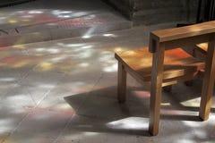 Gevlekt licht in kerk royalty-vrije stock afbeeldingen
