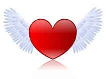 Gevleugeld hart Stock Afbeelding