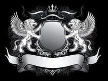 Gevleugeld Leeuwen en Schild Gerb Royalty-vrije Stock Fotografie