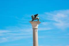 Gevleugeld St Mark Lion symbool van Venetië Stock Foto