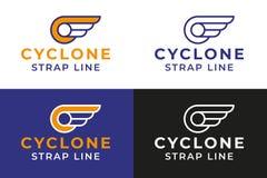 Gevleugeld Wiel Logo Template vector illustratie