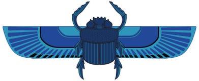 Gevleugelde Blauwe Mestkever stock illustratie