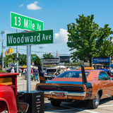 Gevleugelde Daytona-Lader, Woodward-Droomcruise Stock Foto's
