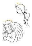 Gevleugelde engelen vector illustratie