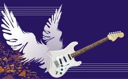Gevleugelde gitaar stock illustratie